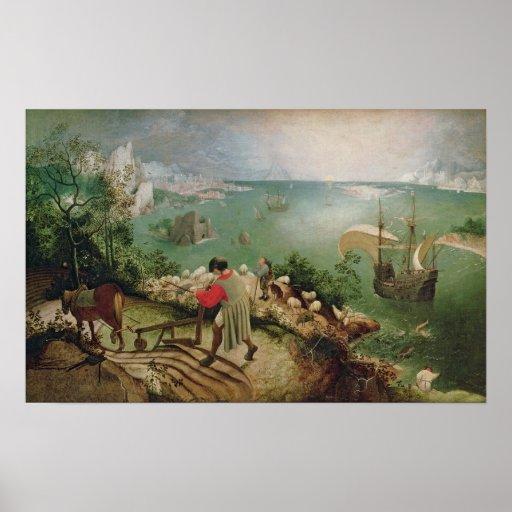 Ajardine com a queda de Ícaro, c.1555 Poster