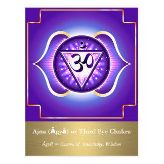 Ajna (Āgyā) ou cartão de Chakra do terceiro olho