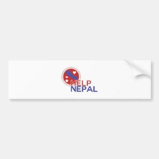 Ajuda Nepal Adesivo Para Carro