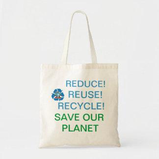 Ajuda para salvar nosso planeta! sacola tote budget