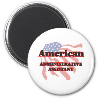 Ajudante administrativo americano ímã redondo 5.08cm