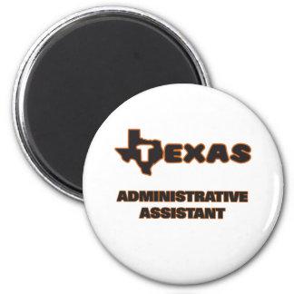 Ajudante administrativo de Texas Ímã Redondo 5.08cm