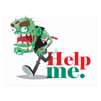 ajude-me zombi - design engraçado cartão postal