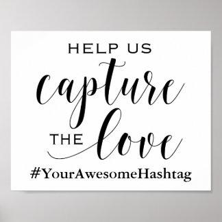 Ajude-nos a capturar o amor - sinal Wedding de Pôster