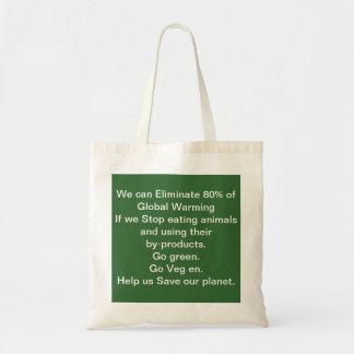Ajude-nos a salvar nosso saco do planeta sacola tote budget