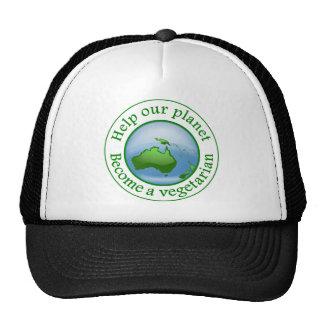 Ajude nosso planeta., transforme-se um vegetariano bonés