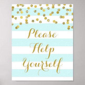 Ajude-se por favor a assinar o ouro das listras pôster