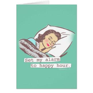 Ajuste meu alarme ao cartão de aniversário do
