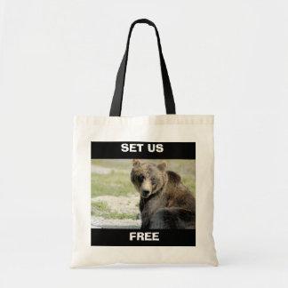 Ajuste-nos livres, salvar os ursos bolsa tote