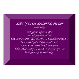 Ajuste sua vista alta cartão de visita grande