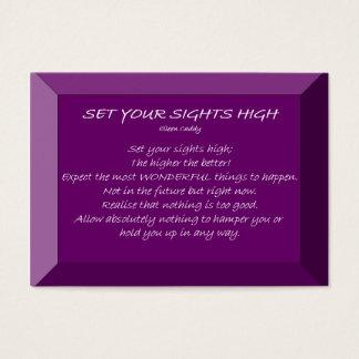 Ajuste sua vista alta cartão de visitas
