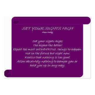 Ajuste suas vistas altas cartão de visita grande