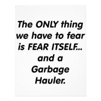 Alador do lixo do medo panfletos personalizados