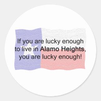 Alamo Heights afortunado Adesivo