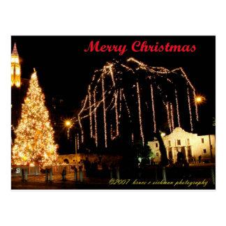 Alamo no Natal Cartão Postal