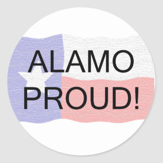 Alamo orgulhoso adesivo