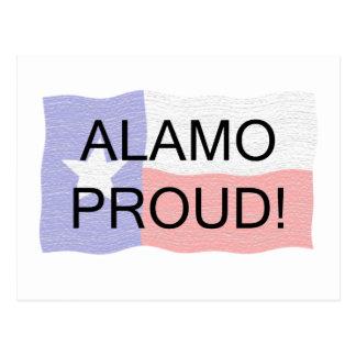 Alamo orgulhoso cartão postal