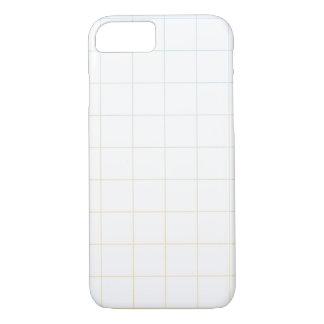 Alaranjado - design azul da grade capa iPhone 7