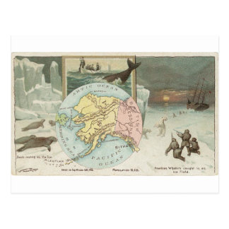 Alaska, cartão 1889 do vintage