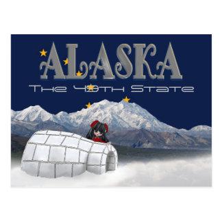 Alaska o 49th cartão do estado