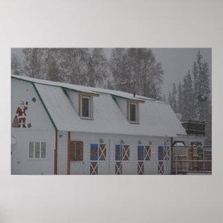 Alaskan congelado Natal da neve do papai noel do