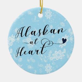 Alaskan no coração, ornamento da árvore de Natal,