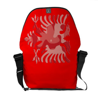 Albanês vermelho Eagle 3D de Camo Bolsa Mensageiro