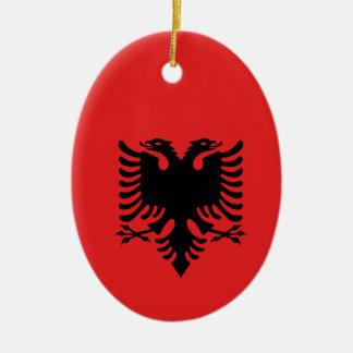 Albânia por todo o lado no design ornamento de cerâmica