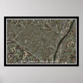 Albany New York da arte do satélite do espaço Poster