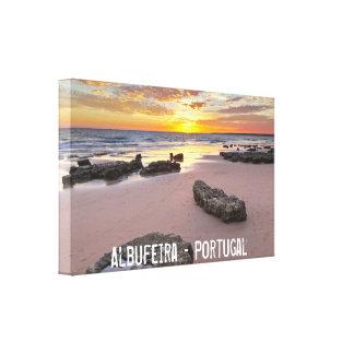 Albufeira - Portugal. Férias de verão no Algarve Impressão Em Tela
