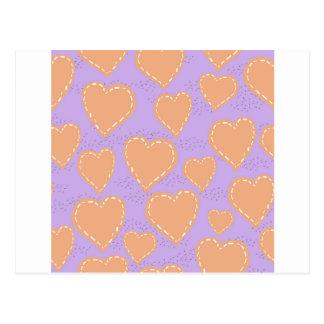 álbum de recortes dos corações cartão postal