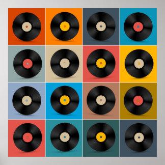 Álbum, registro de vinil, poster da música