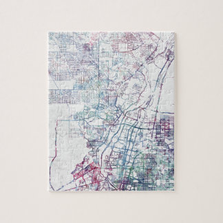 Albuquerque map painting quebra-cabeça