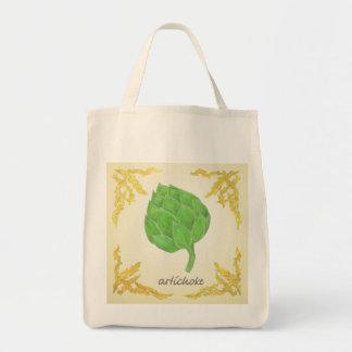 alcachofra com design clássico das folhas sacola tote de mercado
