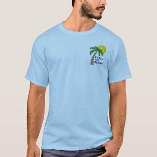 Alcance a coleção da praia camiseta