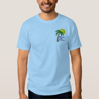 Alcance a coleção da praia tshirt