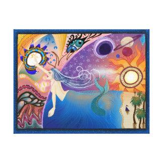 Alcance além das estrelas - impressão das canvas