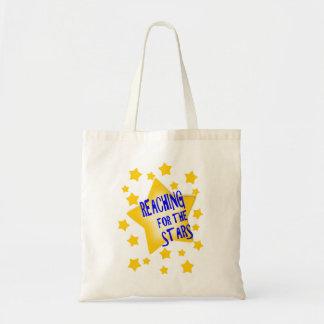 Alcance para a sacola das estrelas bolsa tote