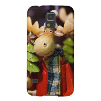 Alces de Papai Noel dos enfeites de natal Capa Para Galaxy S5