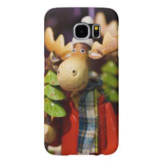 Alces de Papai Noel dos enfeites de natal Capa Para Samsung Galaxy S6