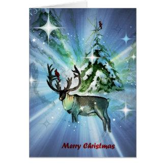 Alces do Natal Cartão