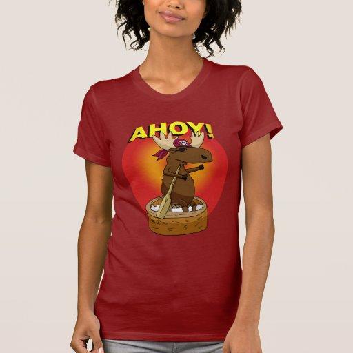 Alces do pirata Ahoy! T-shirt das senhoras