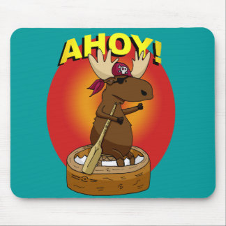 Alces do pirata Ahoy! Tapete do rato Mouse Pads