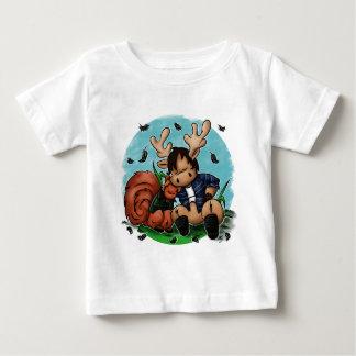 Alces e esquilo camiseta para bebê