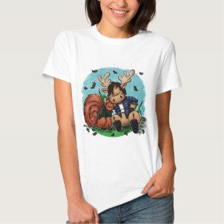 Alces e esquilo camisetas