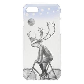 Alces na bicicleta do vintage da equitação do capa iPhone 8/7