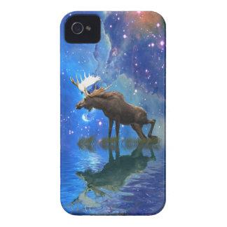 Alces selvagens & caso estrelado do telemóvel dos capa para iPhone 4 Case-Mate