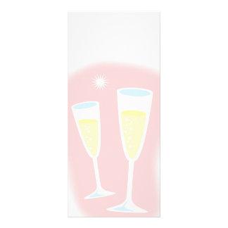 álcool ch da bebida dos desenhos animados da 10.16 x 22.86cm panfleto