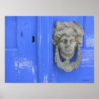 Aldrava de porta, Loutro, Crete, piscina Poster