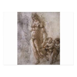 Alegoria da abundância por Sandro Botticelli Cartão Postal
